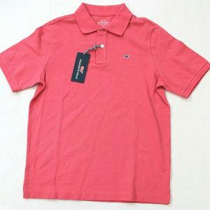 Vineyard Vines Polo Shirt Size L (16) - Jetty Red